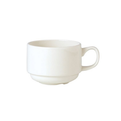Steelite Plain Ivory Stacking Cup 20cl (7oz)