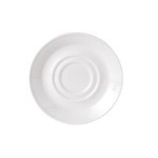 "Steelite Simplicity Double Well Saucer 6.5"" (16.5cm)"