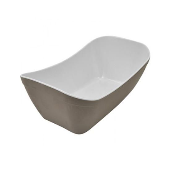 Stone/White Matt Melamine 1/4 Verdura Crock 1.8L