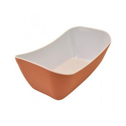 Terracotta/White Melamine Verdura Crock 1.8L