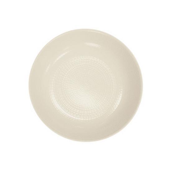 """White Modulo Coupe Plate 8"""" (21cm)"""