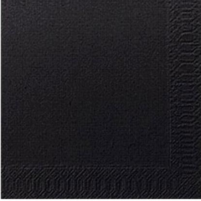 "Duni 2 Ply Black Tissue Napkin 15.7"" (40cm)"