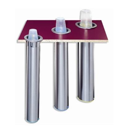 San Jamar Stainless Steel Counter-Mount Horizontal Plastic/Paper Cup Dispenser 12/24oz