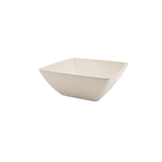 "White Melamine Curved Square Bowl 10.3"" (26.2cm)"