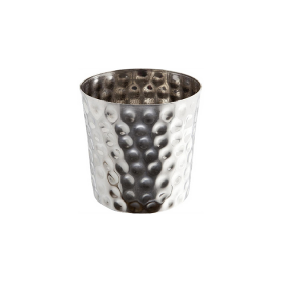 "Stainless Steel Hammered Serving Cup 3.4x3.4"" (8.5x8.5cm)"