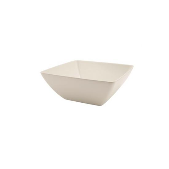 "White Melamine Curved Square Bowl 7.5"" (19cm)"