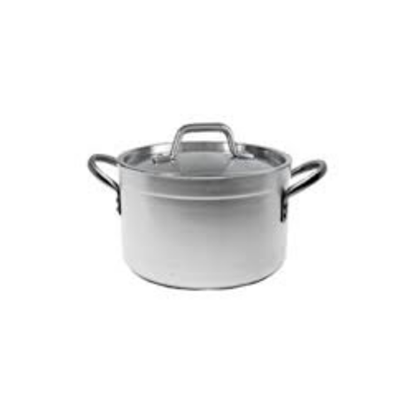 Genware Medium Duty Aluminium Stew Pan With 2 Side Handles 65L