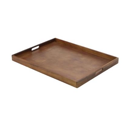 """Dark Wood Gallery Tray 25x19x1.8"""" (64x48x4.5cm)"""