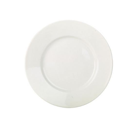 "RG Plain White Wide Rim Plate 9"" (23cm)"
