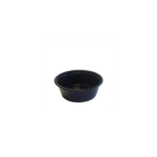 Disposable Black Ramekin 4.4cl (1.5oz)