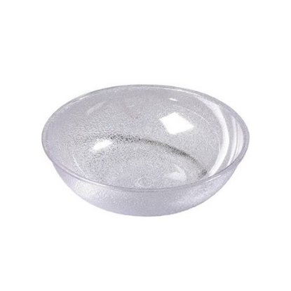 """Round Clear Pebbled Bowl 9"""" (20cm)"""