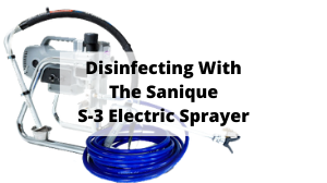 The Sanique S-3 Sanitising Electric Sprayer