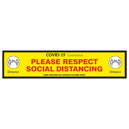 'Please Respect Social Distancing' Floor Graphic