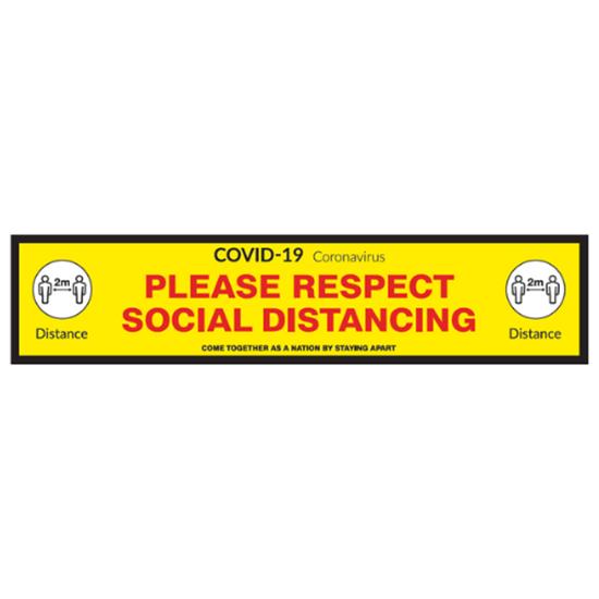 'Please Respect Social Distancing' Floor Graphic