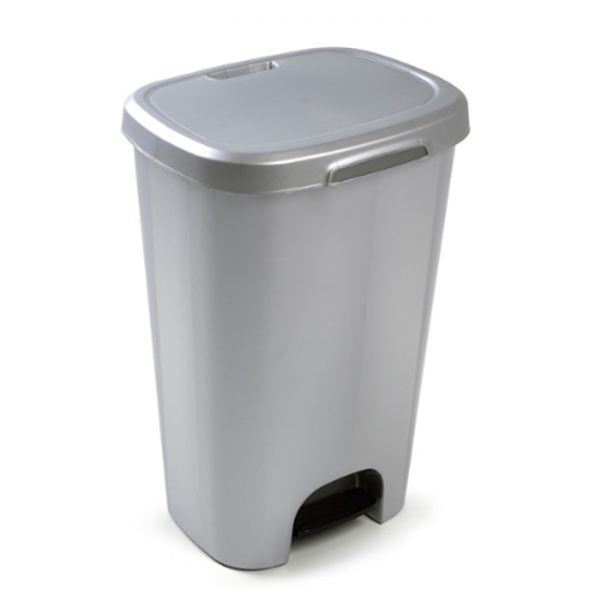 Step On Bin Grey 50L