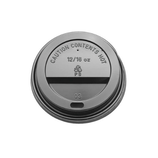 12/16oz Coffee Cup Lid Black