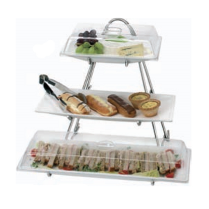 "3 Tier Buffet Stand With Covers 23.6x23.6x8.7"" (60x60x22cm)"