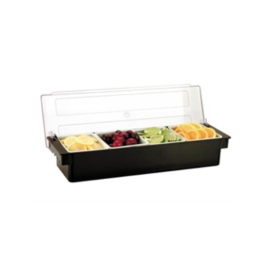 4 Compartment Condiment Unit 19.75x6.25''