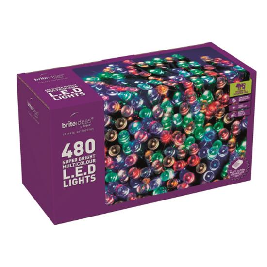 480 Multi Coloured LED Multi Function Lights