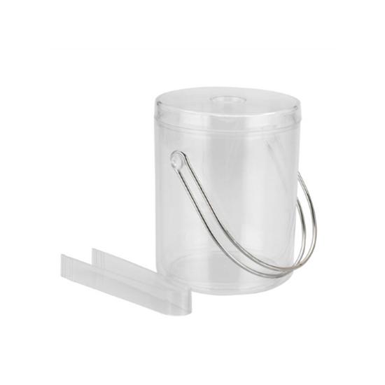 Acrylic Clear Ice Bucket & Tongs 1.75L