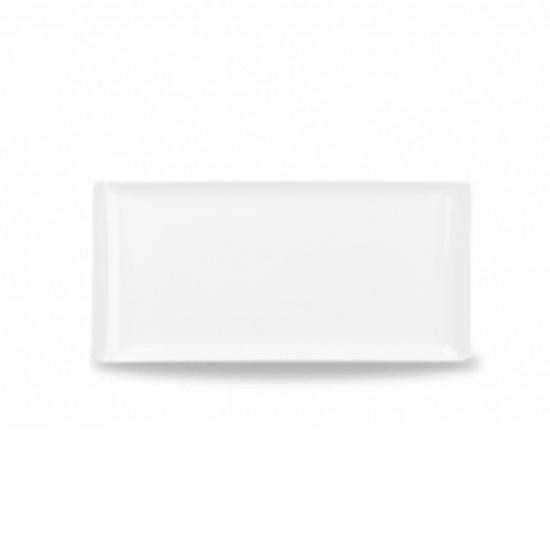 """Alchemy White Rectangular Melamine Tray 11.8"""" X 5.8"""" (30cmx14.5cm)"""