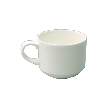 Alchemy White Stacking Teacup 21.3cl (7.5oz)