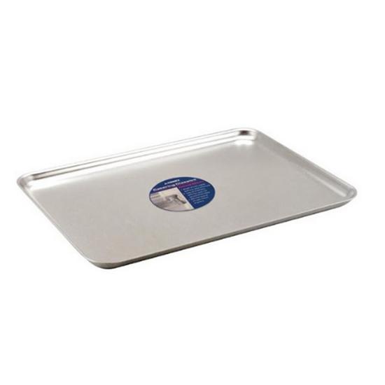 """Aluminium Baking Tray 14.6x10.4x0.8"""" (37x26.5x2cm)"""