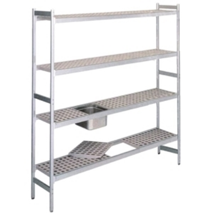 Anodised Aluminium Shelving 862(L)X373(W)X1700(H)Mm