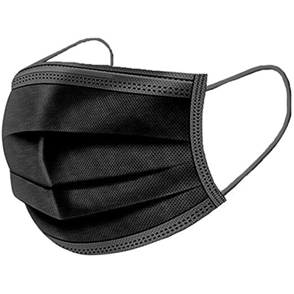3 Ply Black Face Mask
