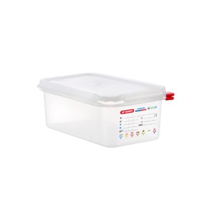 Araven Food Storage Container/Lid/Label 1/4x10cm (2.8L)