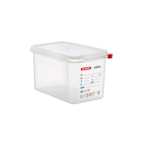 Araven Food Storage Container/Lid/Label 1/4x15cm (4.3L)