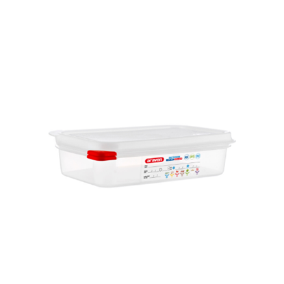 Araven Food Storage Container/Lid/Label 1/4x6.5cm (1.8L)