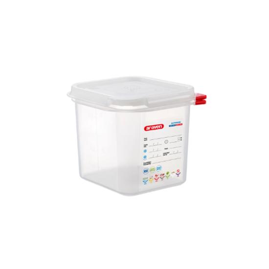 Araven Food Storage Container/Lid/Label 1/6x15cm (2.6L)
