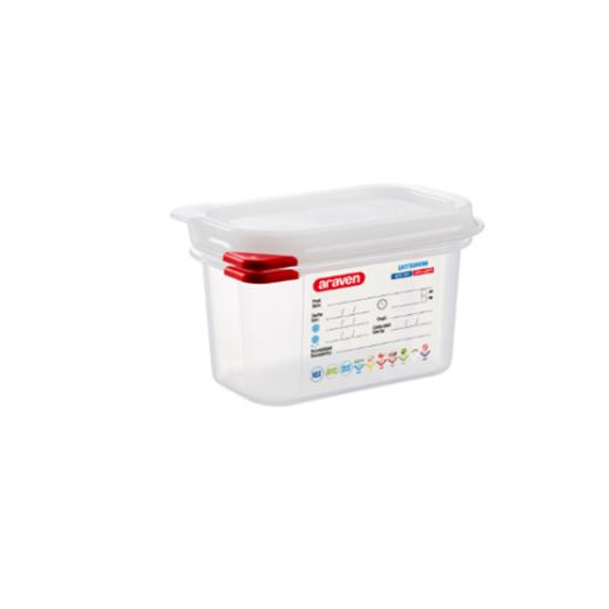Araven Food Storage Container/Lid/Label 1/9x10cm (1L)