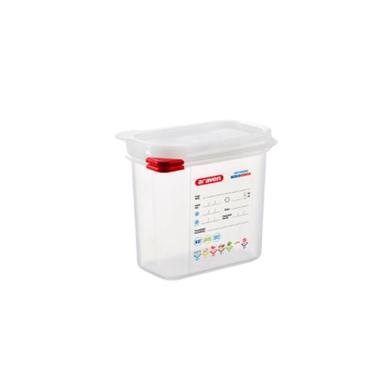 Araven Food Storage Container/Lid/Label 1/9x15cm (1.5L)