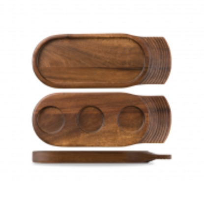 Art De Cuisine Medium Single Handled Wooden Tray 14″(35.5cm)