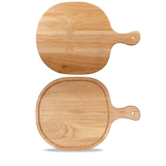 "Art De Cuisine Round Handled Oak Board 12.8x19"" (32.5x48cm)"