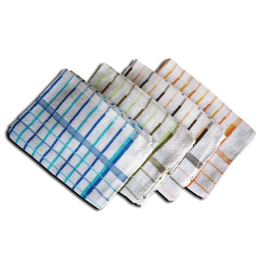 "Assorted Coloured Check Tea Towel 18.1x28"" (46x71cm)"