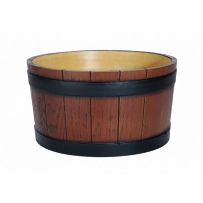 Barrel End Ice Tub Wood Grain Effect 11L