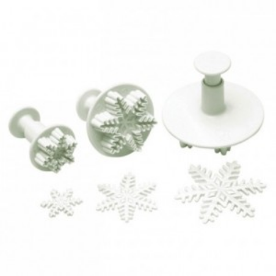Snowflake Pastry Cutter With Pusher Set