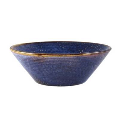 Terra Porcelain Aqua Blue Conical Bowl 96cl (33.8oz)