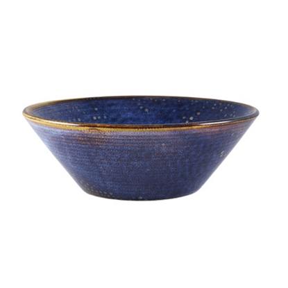 Terra Porcelain Aqua Blue Conical Bowl 96cl (33.8oz)