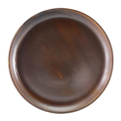 """Terra Porcelain Rustic Copper Coupe Plate 10.8"""" (27.5cm)"""