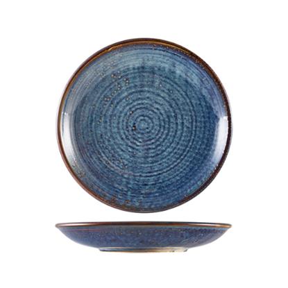 """Terra Porcelain Aqua Blue Deep Coupe Plate 11"""" (28cm)"""