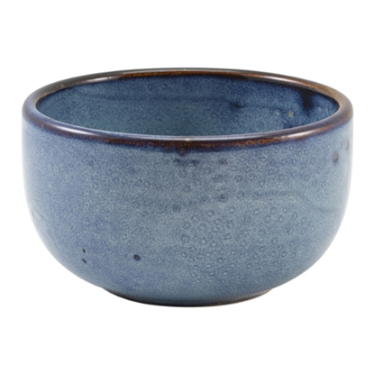 Terra Porcelain Aqua Blue Round Bowl 50cl (17.5oz)