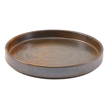 Terra Porcelain Rustic Copper Presentation Plate (21cm)