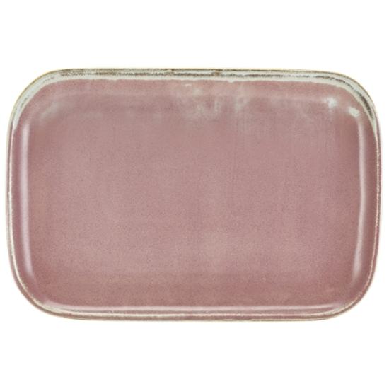"Terra Porcelain Rose Rectangular Plate 13.6x9.3"" (34.5x23.5cm)"