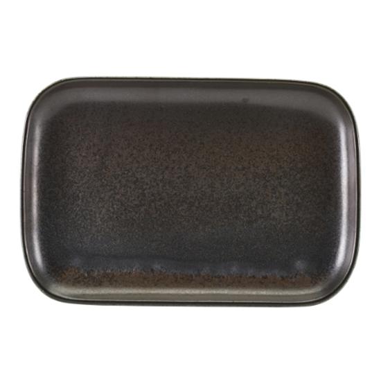 "Terra Porcelain Black Rectangular Plate 13.6x9.3"" (34.5x23.5cm)"