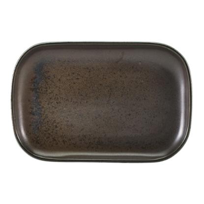 "Terra Porcelain Black Rectangular Plate 11.4x7.7"" (29x19.5cm)"