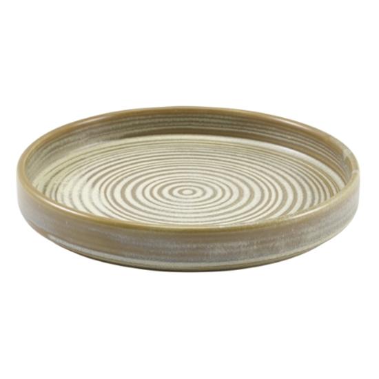"Terra Porcelain Matt Grey Presentation Plate 7"" (18cm)"